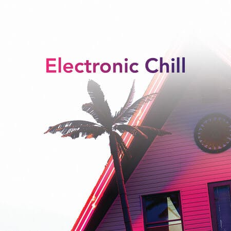 Electronic Chill Playlist Art
