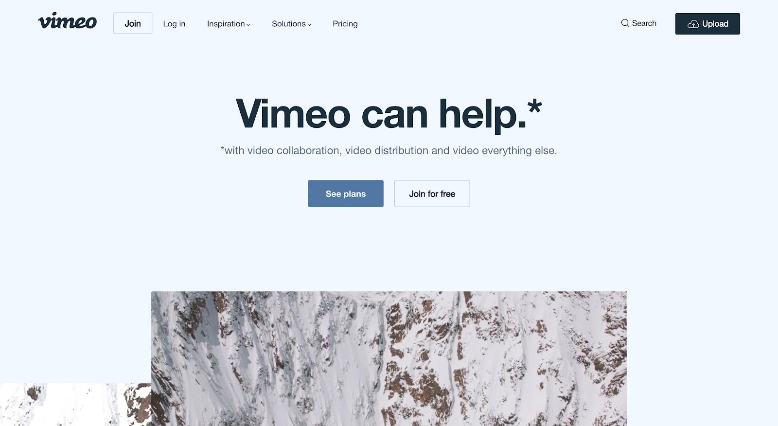 Vimeo video hosting