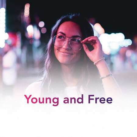 Young and Free Playlist Art