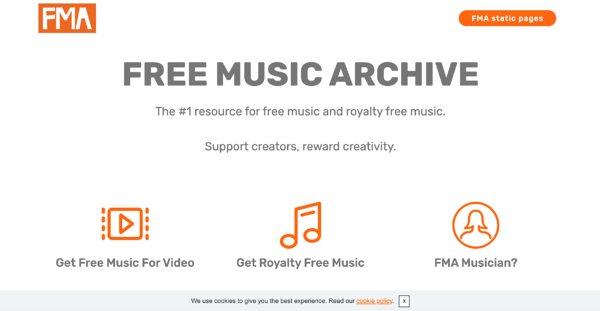 Free Music Archive Homepage