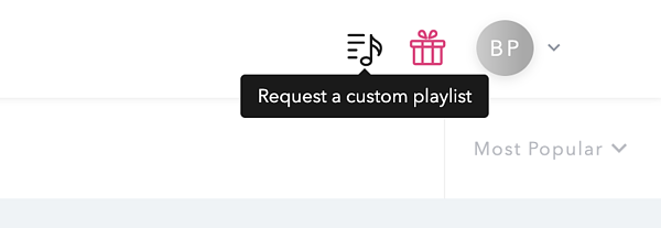 Request custom playlist icon