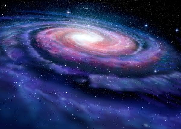 Spiral-galaxy-in-space