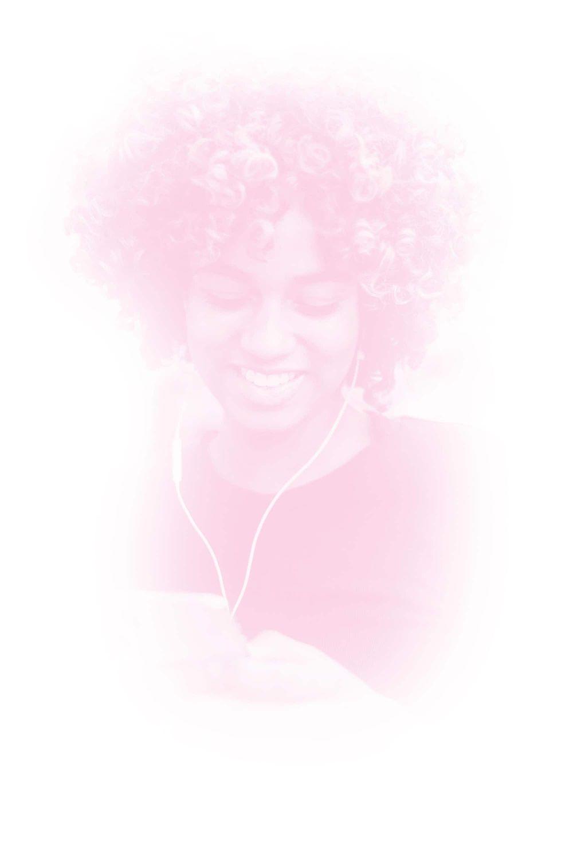 Girl enjoying music