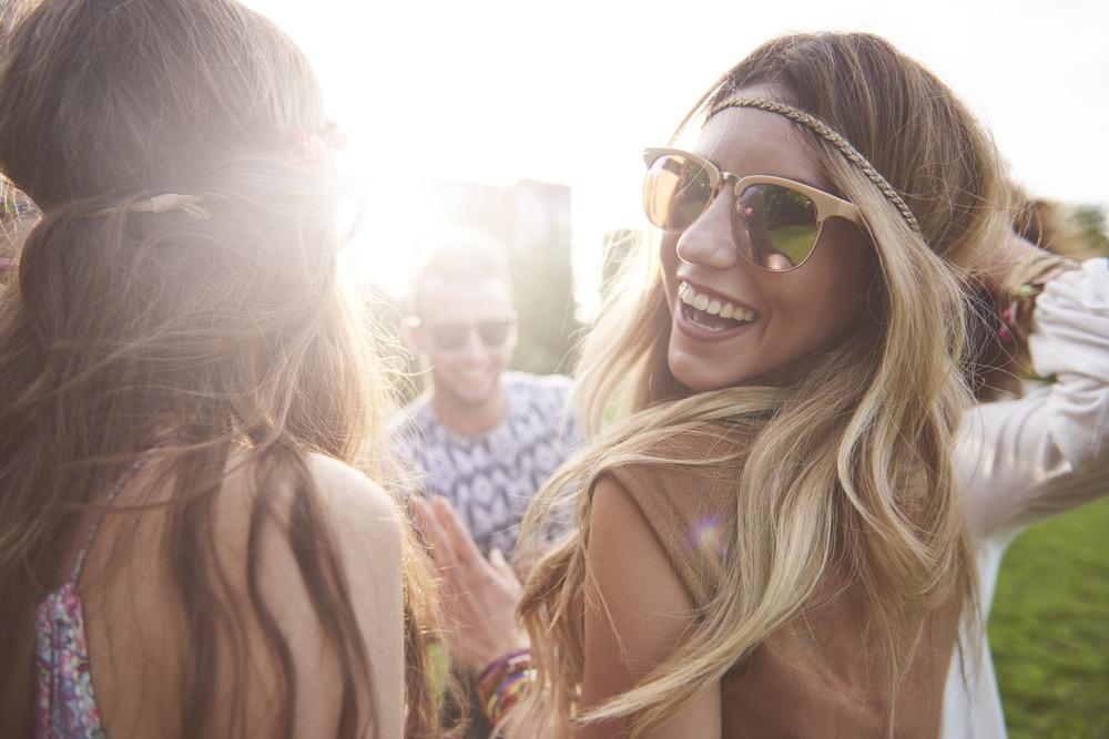Image of girl at Coachella smiling