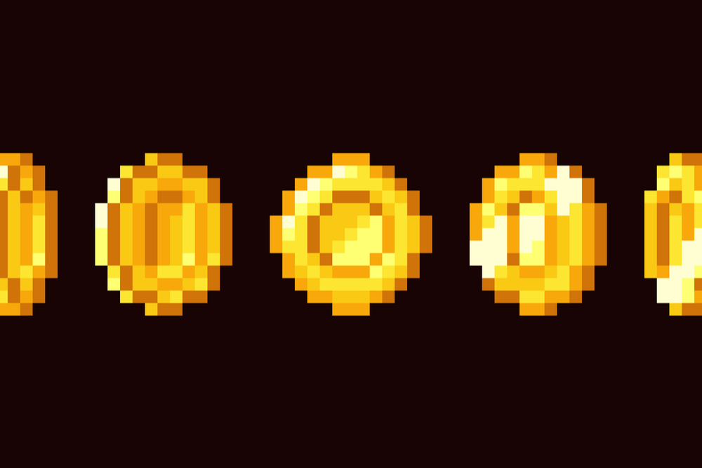 Pixelated-gold-coins