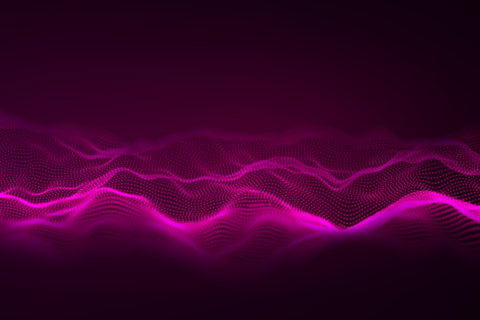 Abstract-pink-music-waves