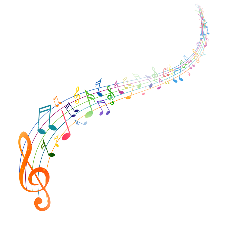 Illustration-of-colorful-musical-notes-in-a-wave