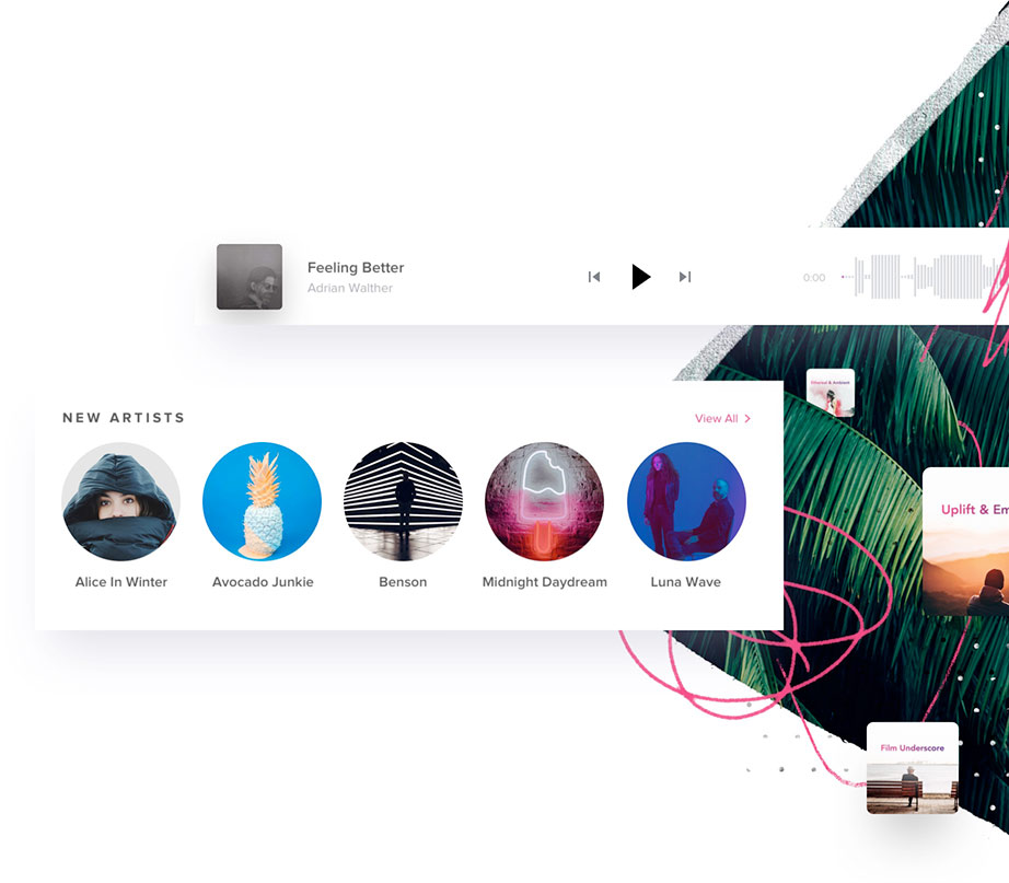 app screenshot royalty free stock music for creators